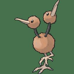 Doduo, one of the best Flying type Pokemon in Pokemon Let's Go