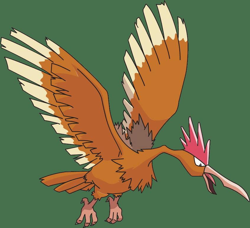 Fearow, one of the best Flying type Pokemon in Pokemon Let's Go