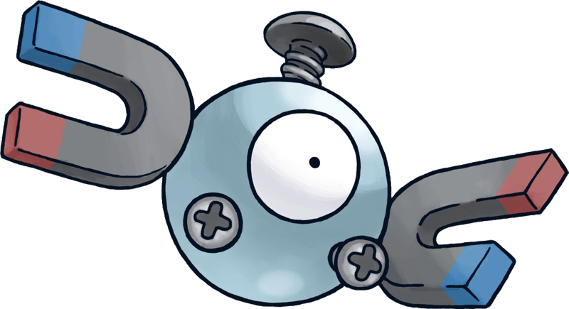 Magnemite, one of the best Electric type Pokemon in Pokemon Let's Go
