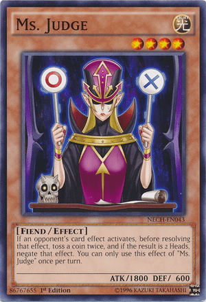 Ms. Judge, one of the best coin flip cards in Yugioh