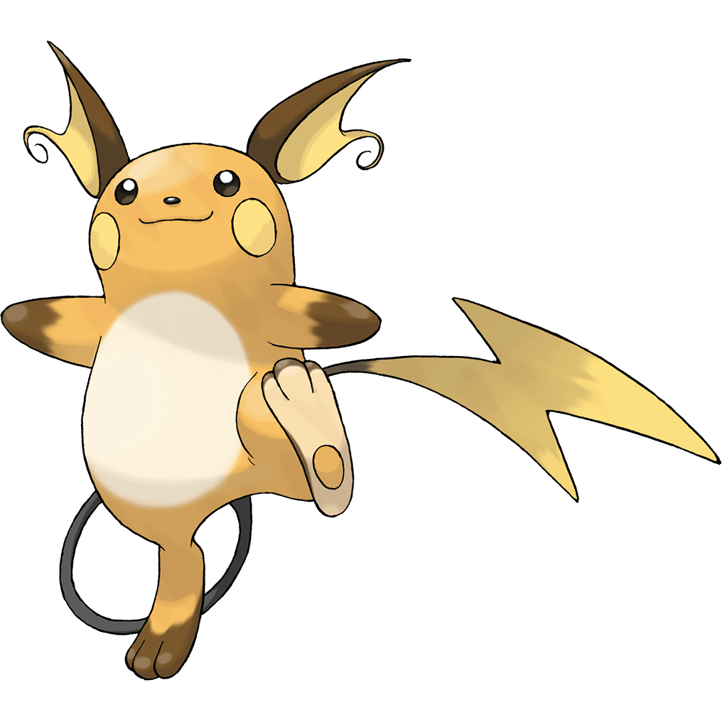 Raichu, one of the best Electric type Pokemon in Pokemon Let's Go