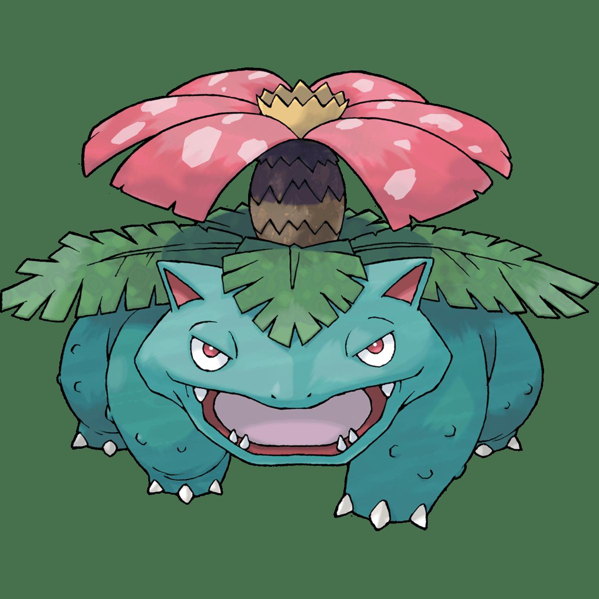 Venusaur, one of the best Grass type Pokemon in Pokemon Let's Go