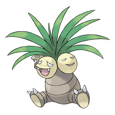 Exeggutor, one of the best Grass type Pokemon in Pokemon Let's Go