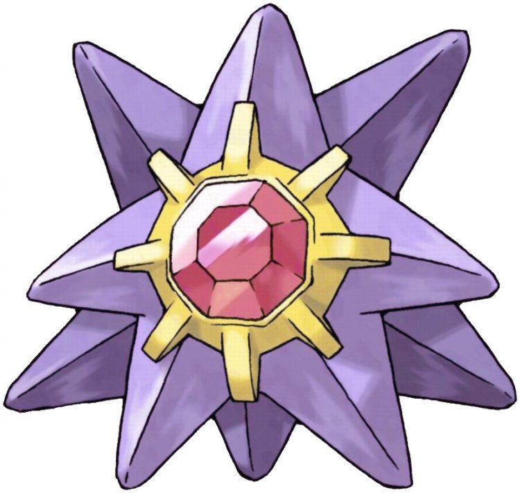 Starmie, one of the best Water type Pokemon in Pokemon Let's Go