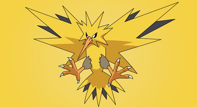 Zapdos, the best Electric type Pokemon in Pokemon Let's Go