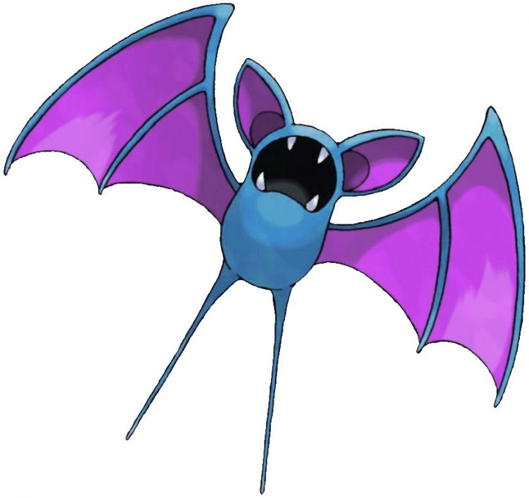 Zubat, one of the best Poison type Pokemon in Pokemon Let's Go