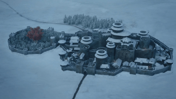 Winterfell, one of the biggest castles in Game of Thrones